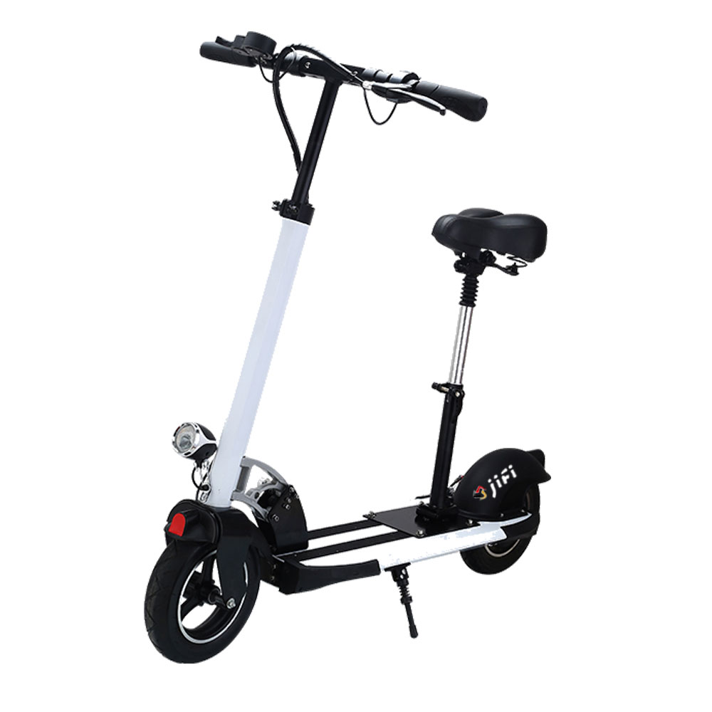 10inch Pneumatic Tyre Foldable Electric Kick Scooter With Seat