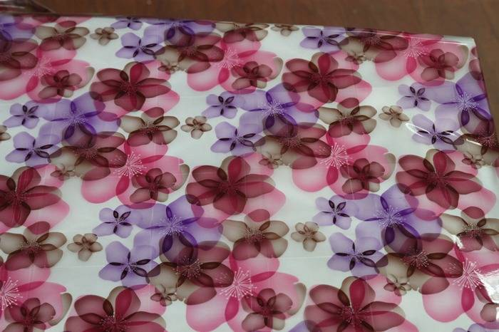 European Fancy style  plastic PVC White Printed Tablecloth