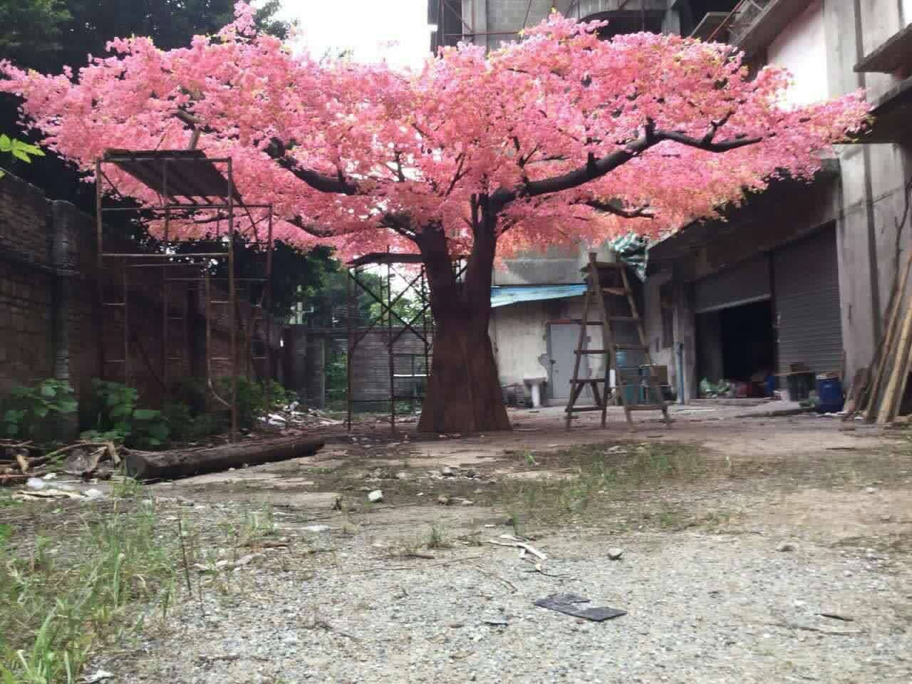 5meter high big pink artificial cherry blossom trees