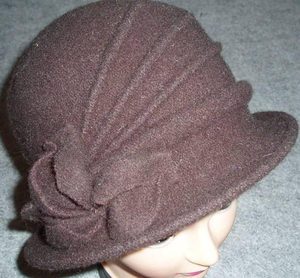100% wool fashion ladies hats with flower decoration, fashion beret, cap