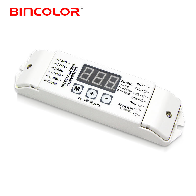 BC-834-PWM5V DMX signal to PWM 5v LED dimming signal converter led driver with CE FCC RoHS