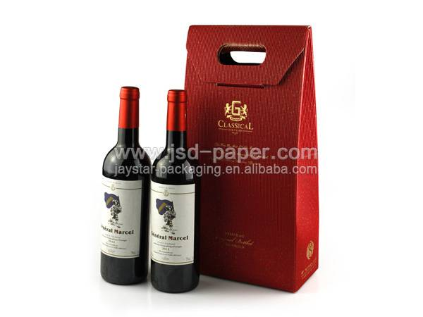 GB-L027 Christmas 2 bottles wine gift packaging  box for wine glass