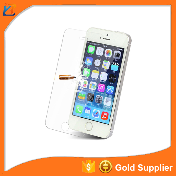 Anti shock HD clear tempered glass screen guard for iphone