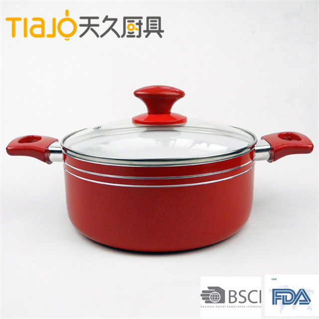 Aluminum Non-stick Ceramic cheap sauce pot With Handle cheap&high quality