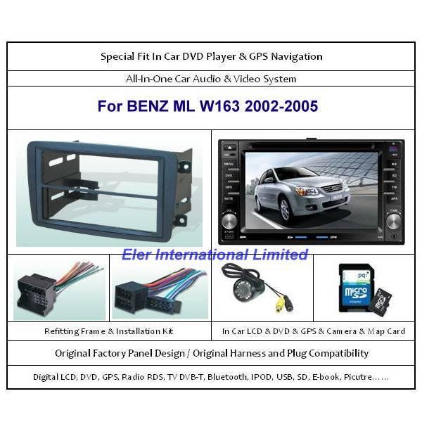 BENZ ML W163 2002-2005 Car DVD Player GPS Navi / Original Factory  Panel / Camera / Map Card