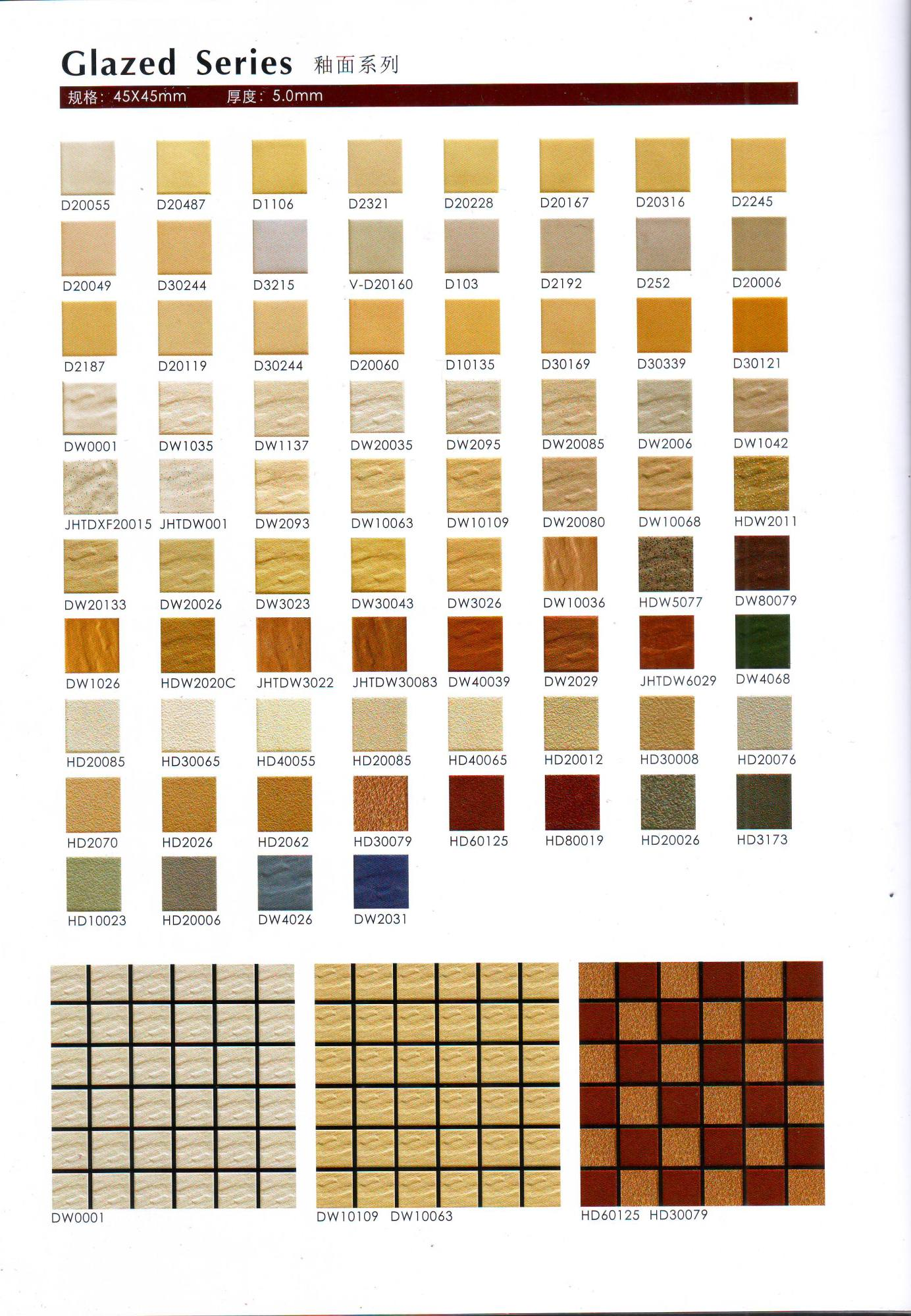 Ceramic Mosaic wall tile for 1 pack 45mmx45mm