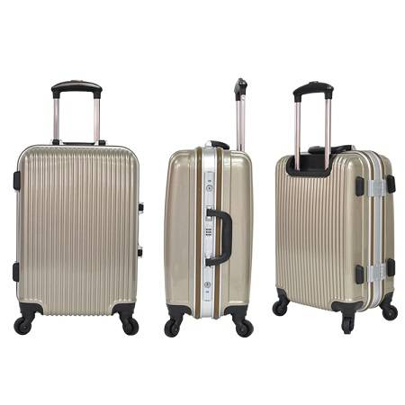 ABS & PC trolley luggage with four spinners