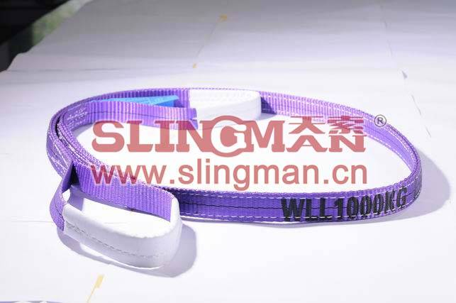 High quality WLL1ton 1000kg Polyester webbing sling flat web sling band