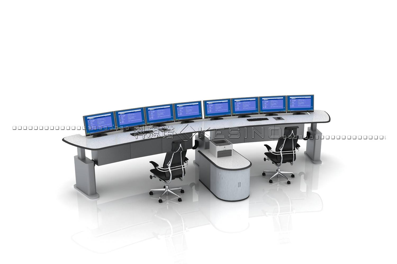 Adjustable Height dispatching station console