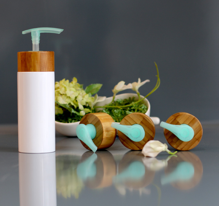 Reusable Emulsion Lotion Bottle With bamboo pump