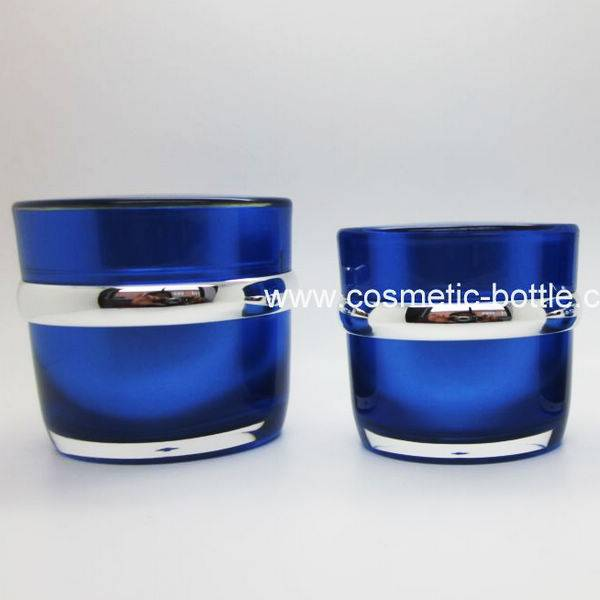 Blue Color Acrylic Cosmetic Cream Jar (FB-03-J50)