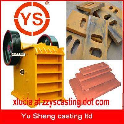 CE certification Mn13Cr2 jaw crusher toggle plate