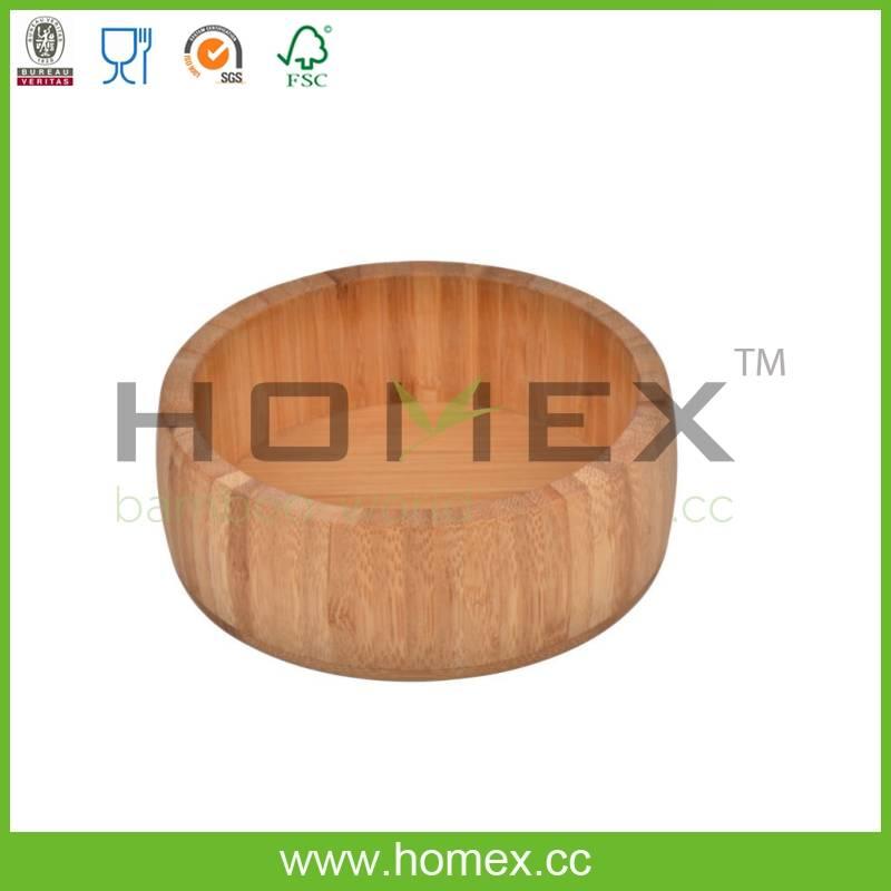 Natural Durable Kitchenware Tools/Bamboo Salad Bowl/HOMEX-FSC/FDA/SGS/LFGB/BSCI