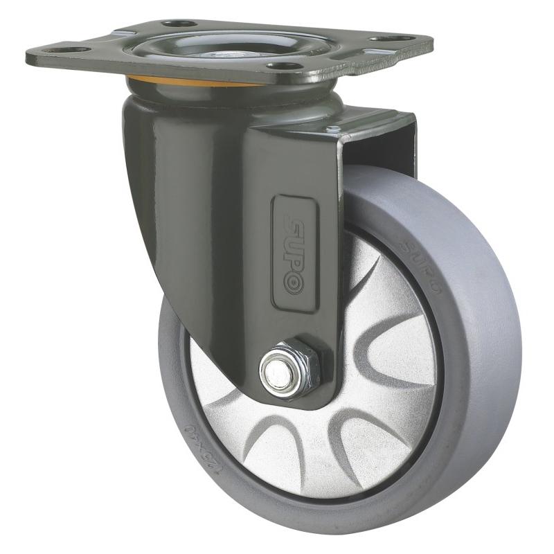 Swivel Plate Medium Heavy Duty Industrial Wheel Caster Supplier
