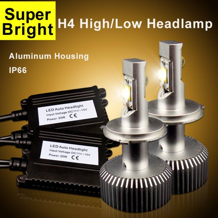 Cree led car headlight H4 high/low beam auto headlight