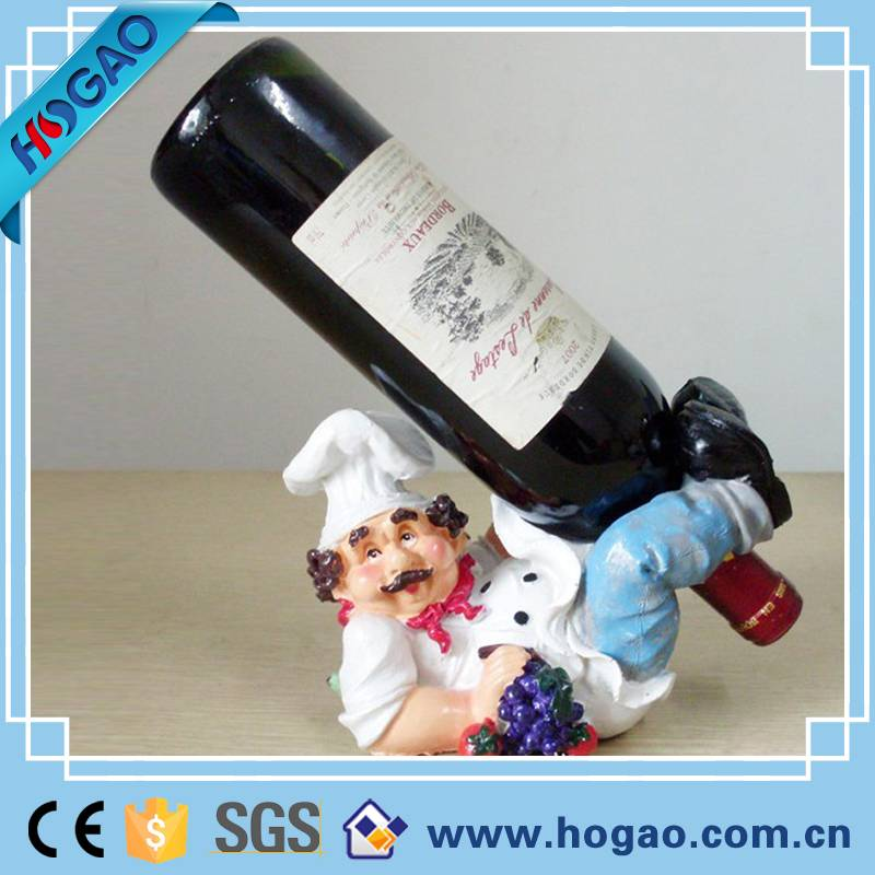 Cook design resin wine holder for home decor, Exqui