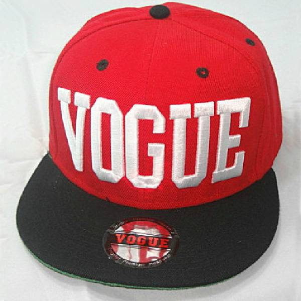Vogue Hot custom snapback hats with 3D embroidery