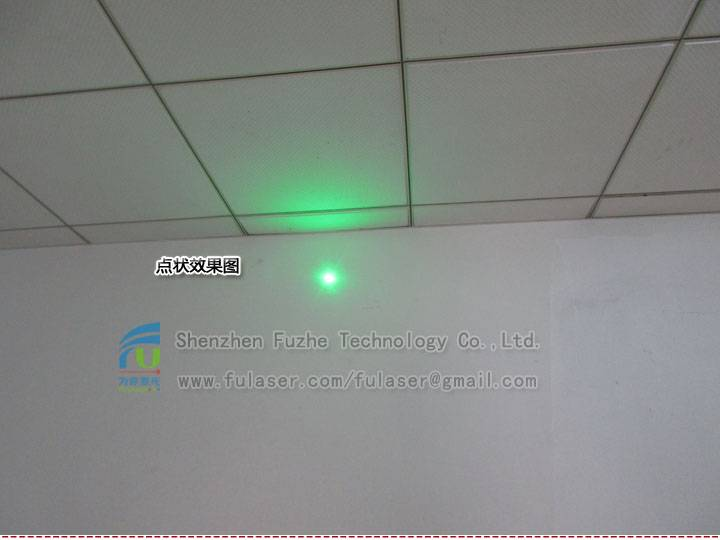 FU520AD30-GD16 520nm 30mW green dot laser module, 515-525nm