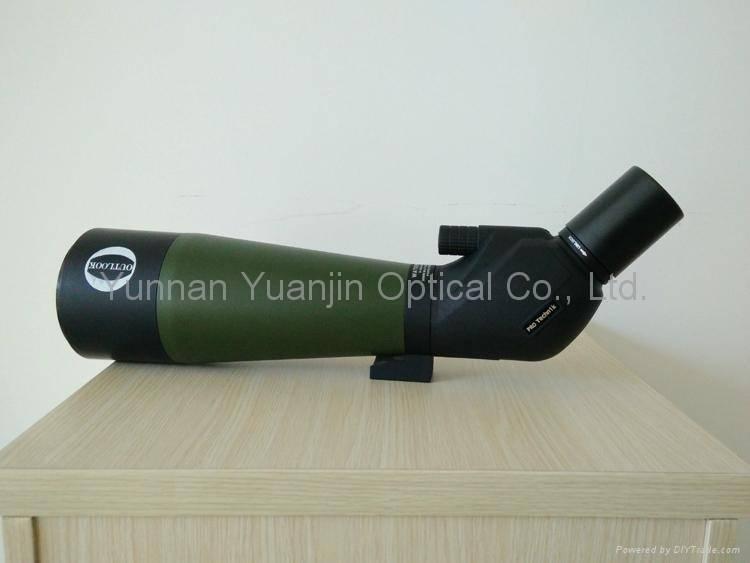 Aluminum trunk durable 20-60x80 birding binoculars whit a tripod