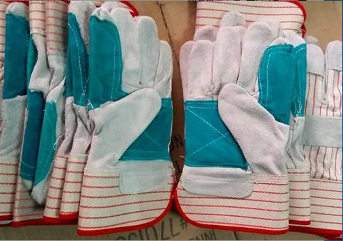 High quality cow split leather gloves