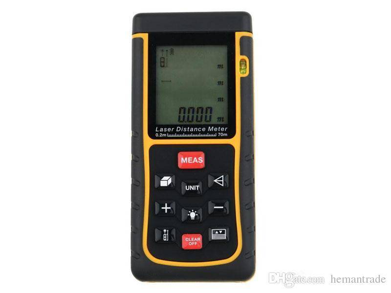 70m RZ70 Laser Distance Meter Bubble Level Rangefinder Rang Finder Tape Measure Tool Area/Volume Tes