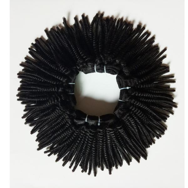 Human hair weft Natural black Afro hair Brazilian Indian peruvian hair kinky curly