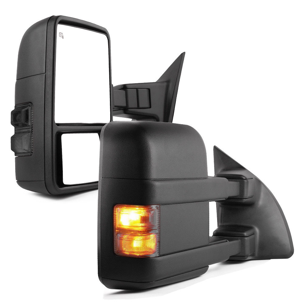 For 99-07 Ford F250-F550 Super Duty Towing Mirrors Pair Power Heated Turn Signal