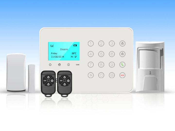 32 wireless zone alarm system + 4 wired zones alarm system