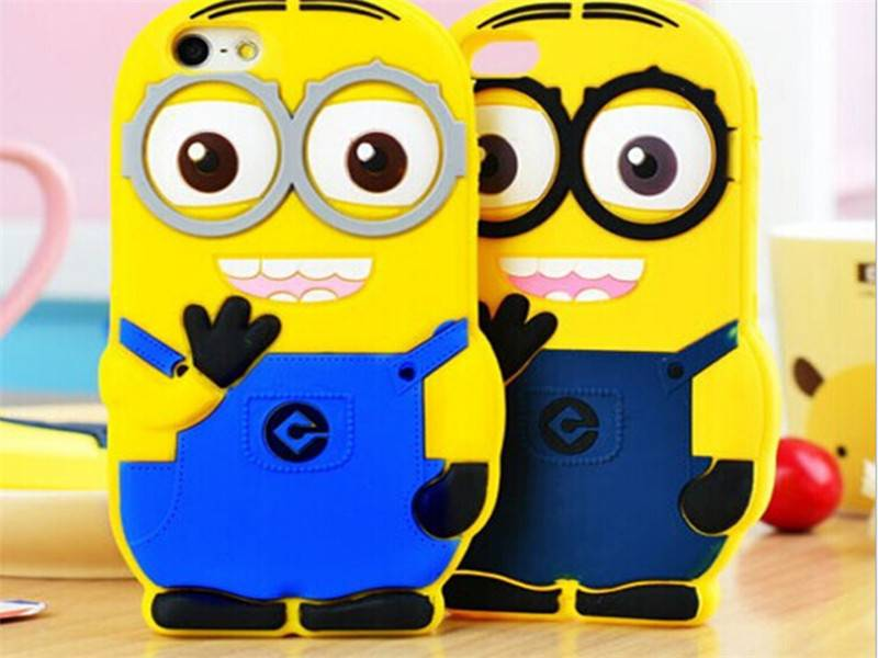 new mobile cover silicon phone case for iphone 5s 3d design phone case Despicable Me Minions silicon