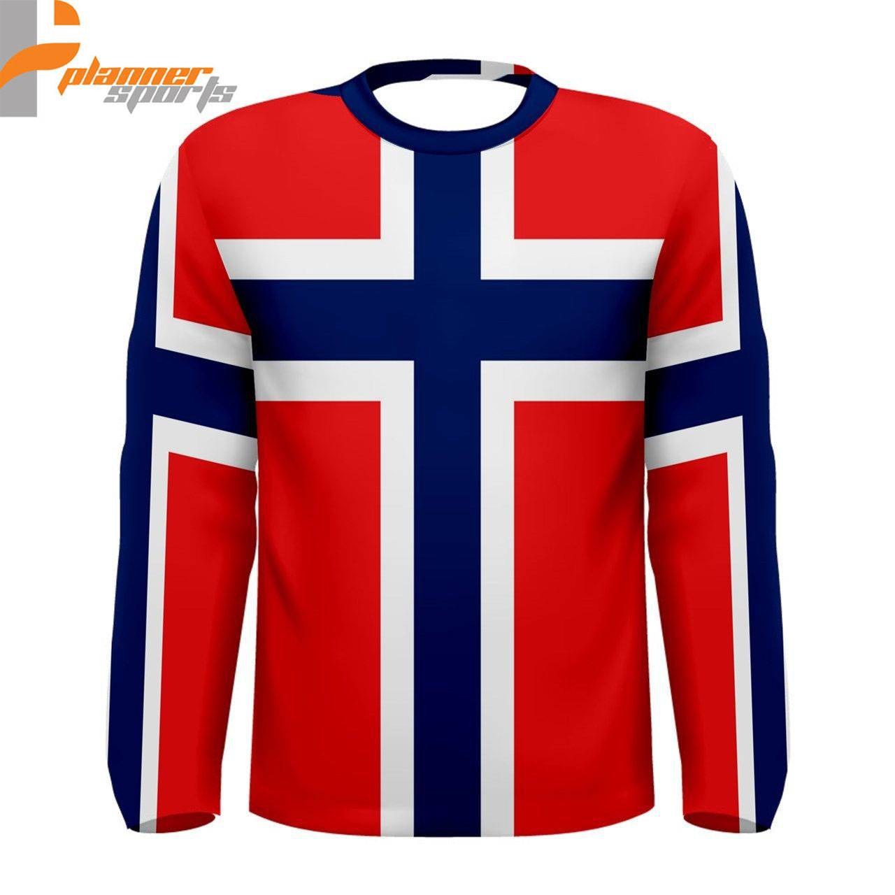 Norway Norwegian Flag Sublimated Men's Long Sleeve T-Shirt S,M,L,XL,2XL,3XL