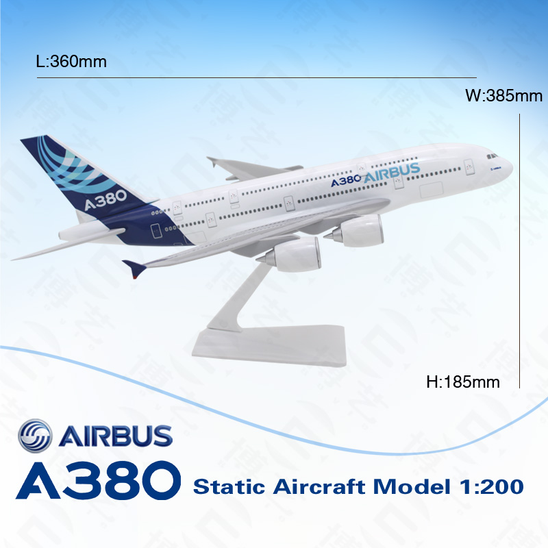 36cm 1: 200 Ture to Scale Aircraft Model 380 Passenger Plane Model for Home Decoration