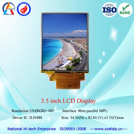 China top customize lcd 3.5 inch tft lcd display for pos terminal car black box etc