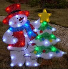 EVA&LED Christmas decorative ligts,Santa with Trees and Star,xmas lights