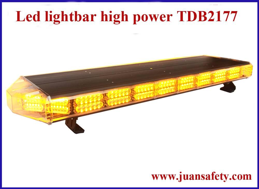 new arrival double row Led warning lightbar, strobe light bar for police car TBD2177