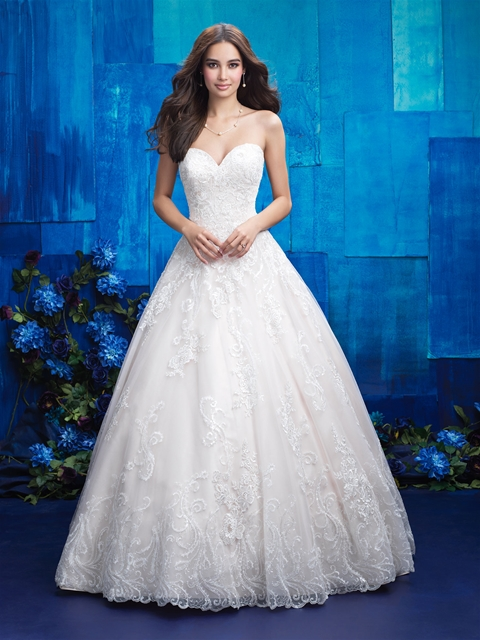 2017 Latest Design Lace Wedding Dress With Detachable Train