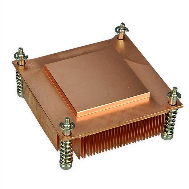 Standard Socket 775 skiving copper CNC 1U heat sink market
