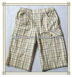 Good and quality new style hot sale men latticed fabric shorts pants men