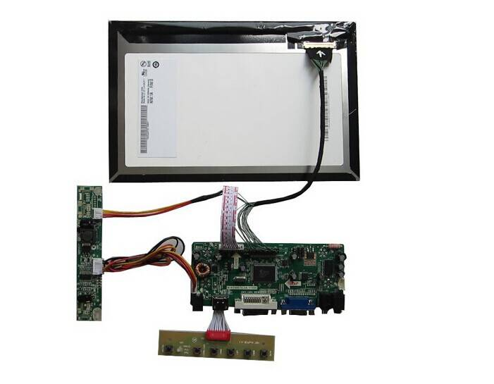 HDMI+DVI+VGA+Audio LCD driver board +B101UAN02.1 with 1920*1080+LVDS cable +LED driver board +OSD ke