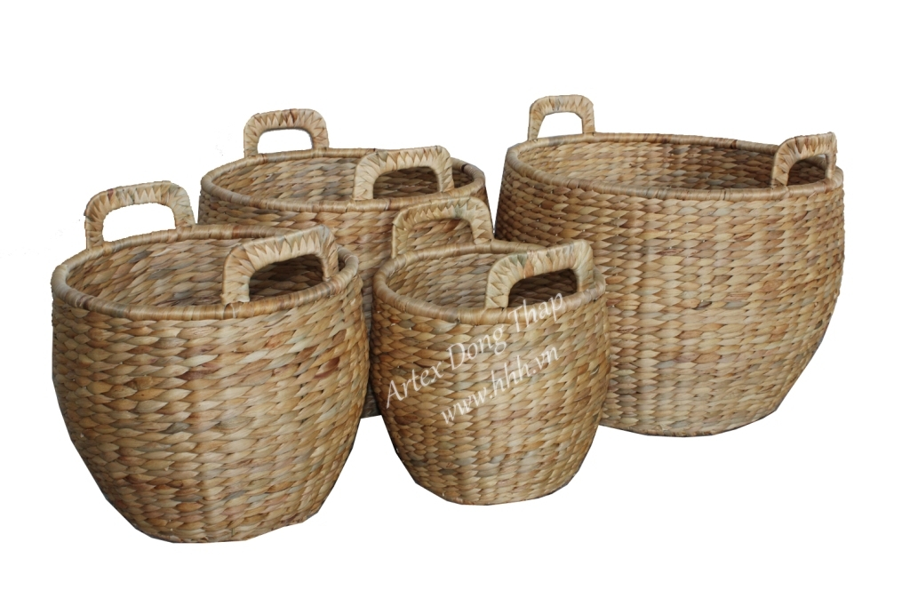 Water hyacinth basket for home decor and furniture - SD6984A-4NA