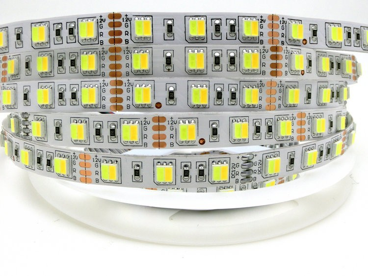 5050 Double Color Temperature LED Strip,One Chip with Warm White and Cold White,DC12V 60LED/m