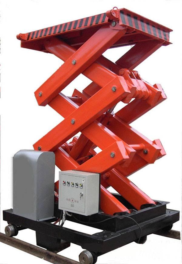 scissor lifting machine for lifting cargo