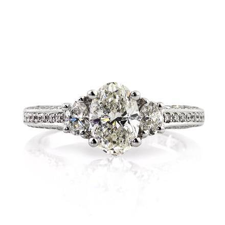1.81ct Oval Cut Diamond Engagement Ring