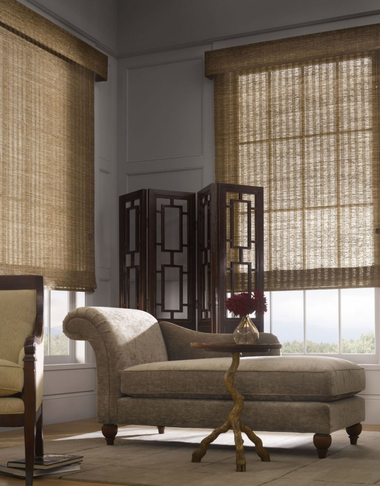 window blinds natural woven fabric