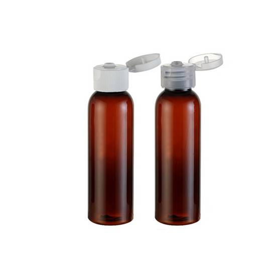2oz Amber plastic empty fancy clear PET bottle cosmetic for lotion