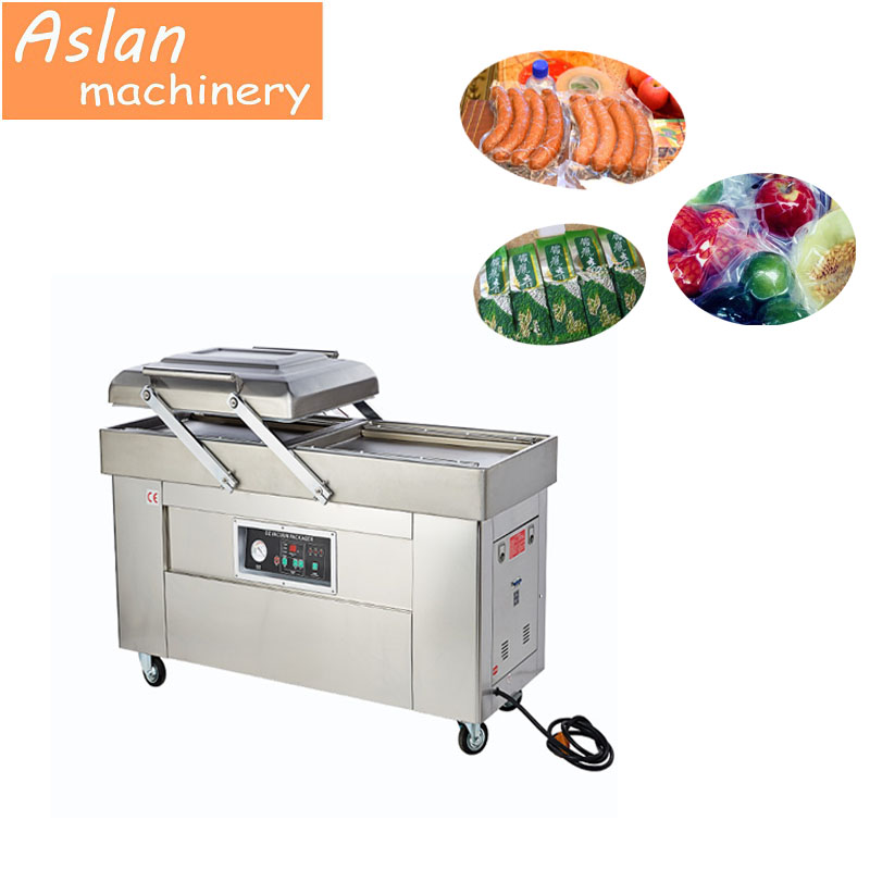 automatic packaging sealing machine/ double chamber meat sausage packaing machine/ food package