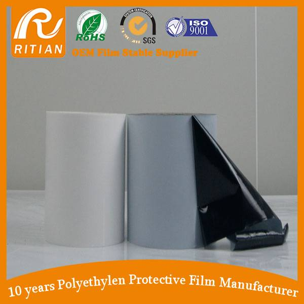 Black & White Color PE Protective Film
