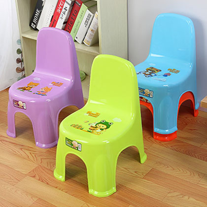 Stackable child backrest plastic chair