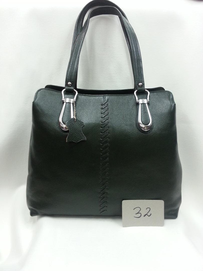 Leather Bag Dark gray color