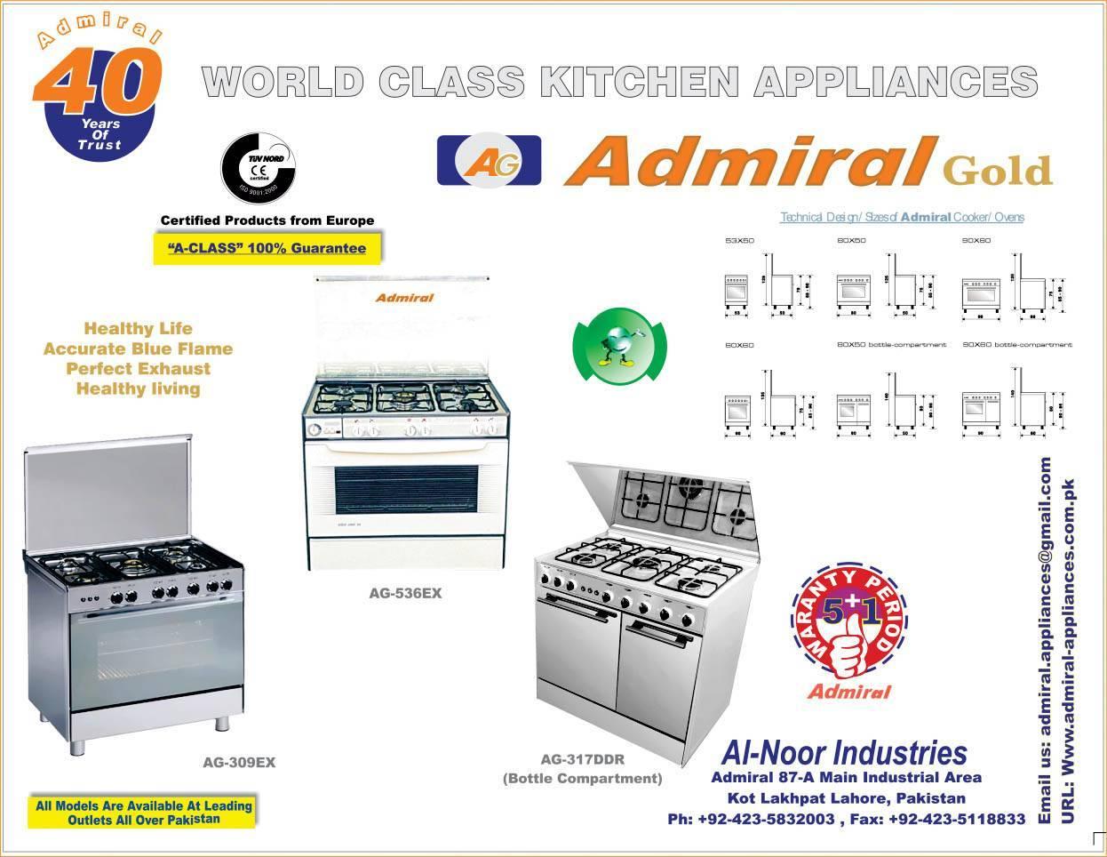 Admiral Freestanding cooker AG-309EXS 80X60X85CM