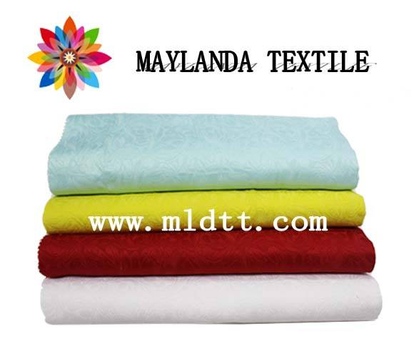 Maylanda Textile 2016 Factory for Garments, New Style Solid Color Dyeing Jacquard Fabrics with 50%Po